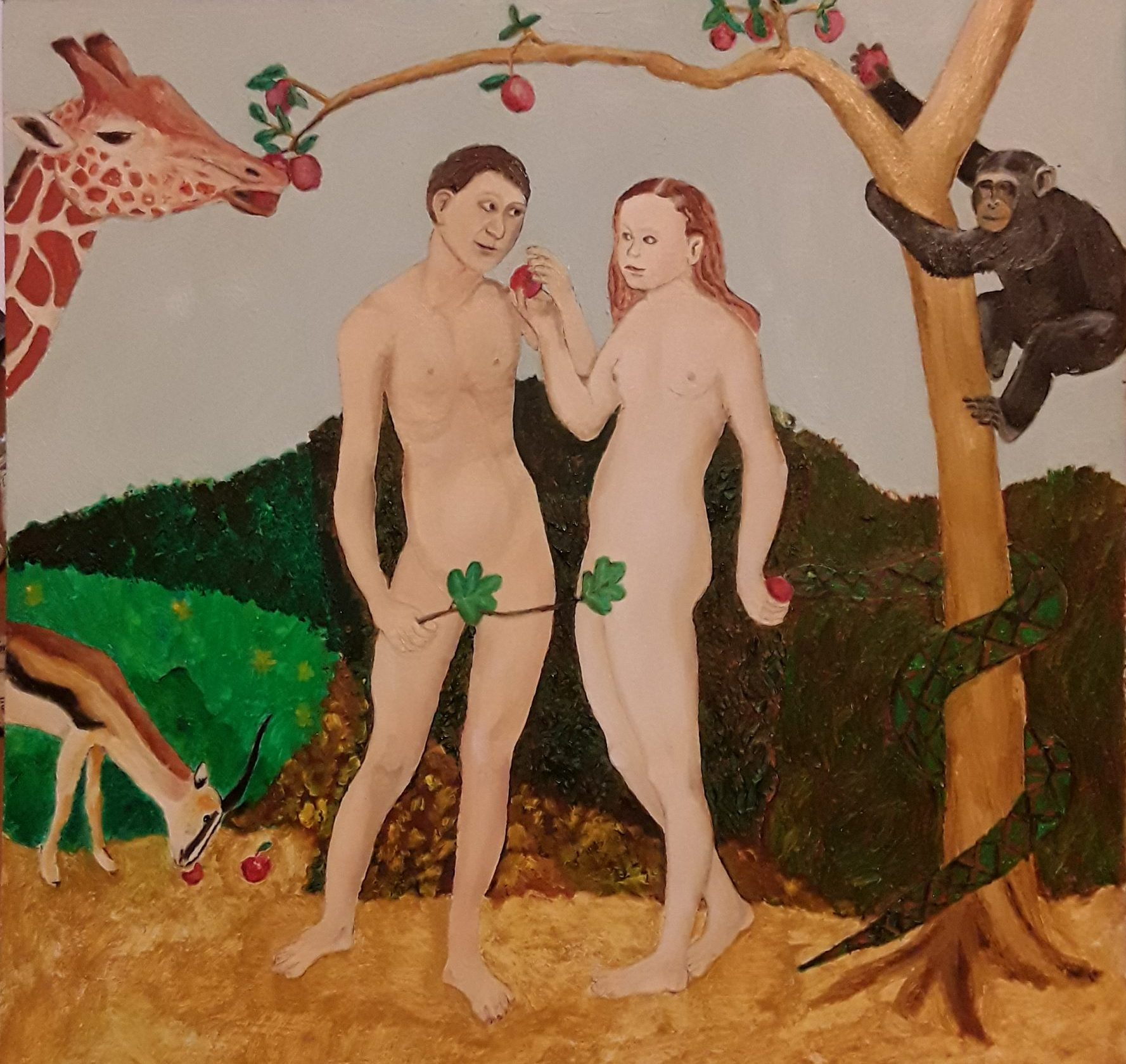 Adam and Eve without navels